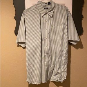 Men's button up fresh out of the cleaners shirt